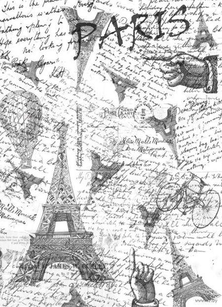 """Калька с принтом """"Париж"""" (А4) — фото, картинка"""