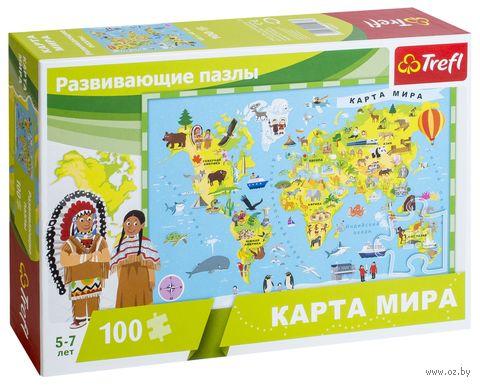 """Пазл """"Карта мира"""" (100 элементов) — фото, картинка"""