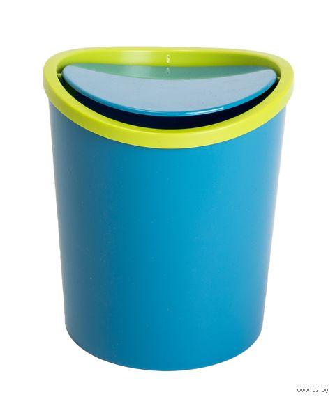 Ведро для мусора (1,6 л; бирюзовое) — фото, картинка