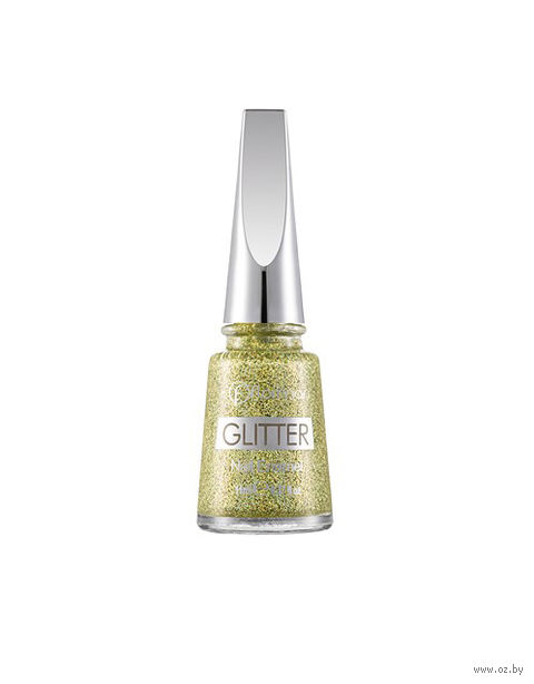 "Лак для ногтей ""Glitter Nail Enamel"" (тон: 04, gold rush) — фото, картинка"