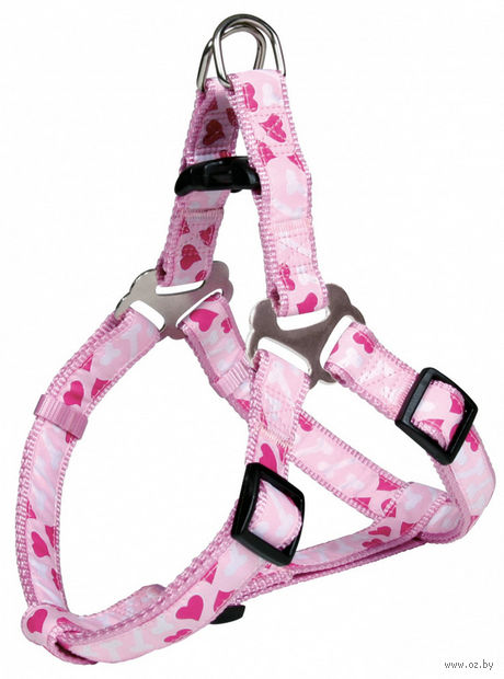 "Шлея для собак ""Modern Art Harness Rose Hearts"" (размер XS-S; 30-40 см; розовый)"