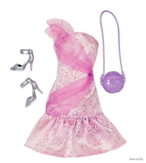 """Одежда для куклы """"Барби. Гламур. Розовое платье с аксессуарами"""""""