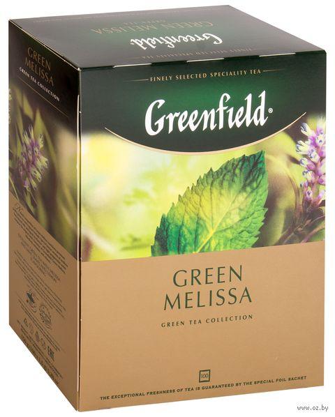 """Чай зеленый """"Greenfield. Green Melissa"""" (100 пакетиков) — фото, картинка"""