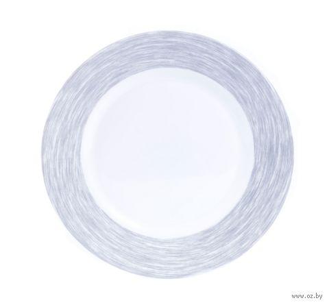 """Тарелка стеклокерамическая """"Brush Grey"""" (235 мм) — фото, картинка"""