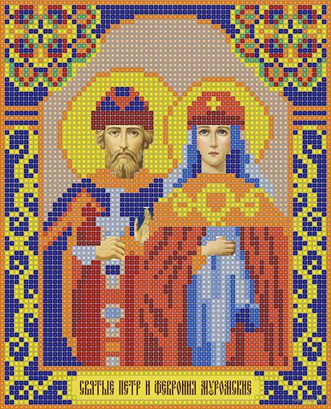 """Алмазная вышивка-мозаика """"Святые Петр и Февронья"""" (210х170 мм) — фото, картинка"""