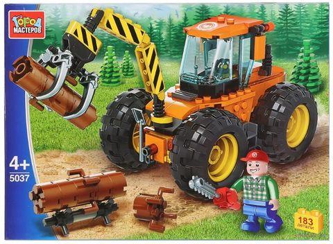 """Конструктор """"Трактор-лесоруб"""" (183 детали) — фото, картинка"""