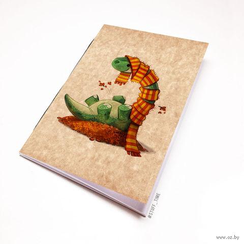 """Блокнот крафт """"Динозаврик"""" А6 (955)"""