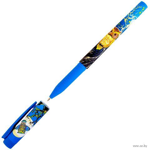 "Ручка шариковая синяя ""Мультики. Синяя сова"" (0,7 мм) — фото, картинка"