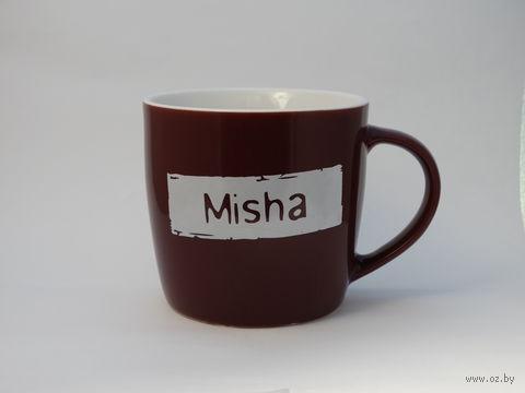 "Кружка широкая Name Is ""MISHA"""