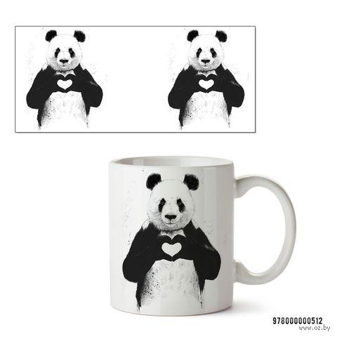 """Кружка """"Панда"""" (белая; арт. 512) — фото, картинка"""
