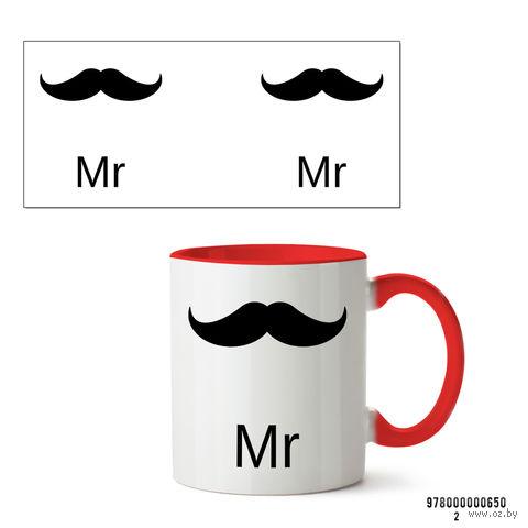 """Кружка """"Mr"""" (650, красная)"""
