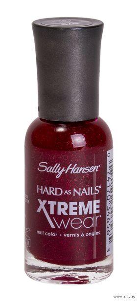 """Лак для ногтей """"Hard as nails xtreme wear"""" (тон: 390, красный с блестками)"""