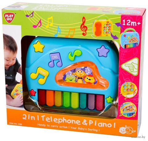 """Музыкальная игрушка """"Телефон и пианино"""" (со световыми эффектами) — фото, картинка"""