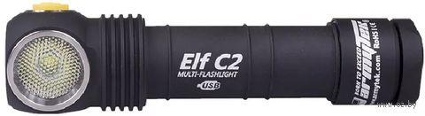 Фонарь Armytek Elf C2 Micro-USB XP-L + 18650 Li-Ion (тёплый свет) — фото, картинка