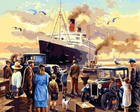 "Картина по номерам ""Встреча парохода"" (400х500 мм) — фото, картинка"