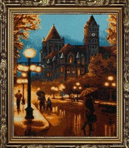 """Алмазная вышивка-мозаика """"Ночной город"""" (500х680 мм) — фото, картинка"""