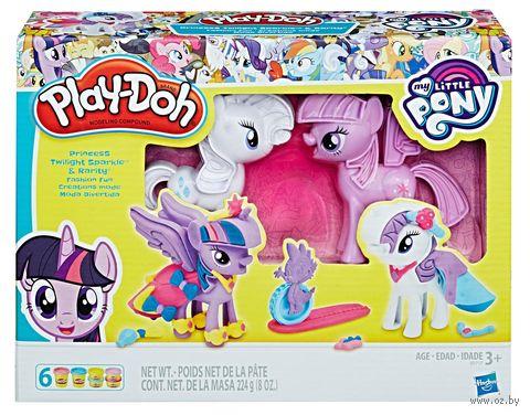 """Набор для лепки """"Play-Doh. Твайлайт и Рарити"""" — фото, картинка"""