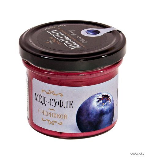"Мёд-суфле ""Medolubov. С черникой"" (125 мл) — фото, картинка"
