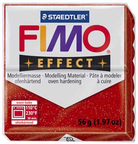 """Глина полимерная """"FIMO Effect"""" (красный металлик; 56 г) — фото, картинка"""