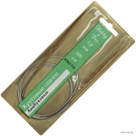 Спицы круговые для вязания (бамбук; 3 мм; 100 см) — фото, картинка