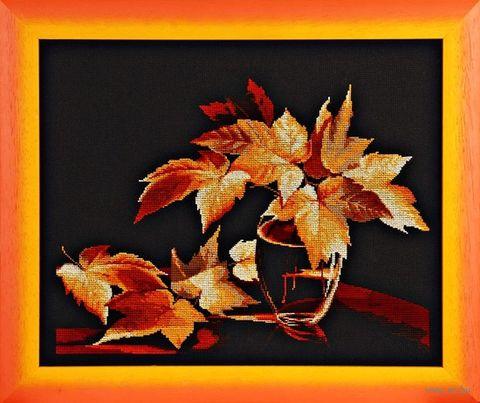 "Вышивка крестом ""Золото осени"" (370х270 мм) — фото, картинка"