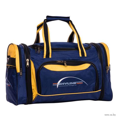 Сумка спортивная 6067-1 (38 л; сине-жёлтая) — фото, картинка