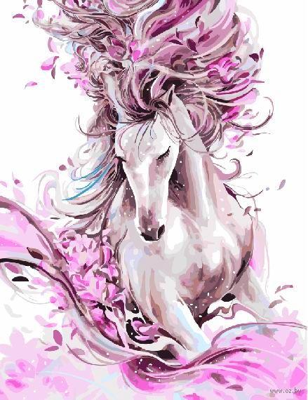 """Картина по номерам """"Женственная лошадь"""" (400х500 мм) — фото, картинка"""