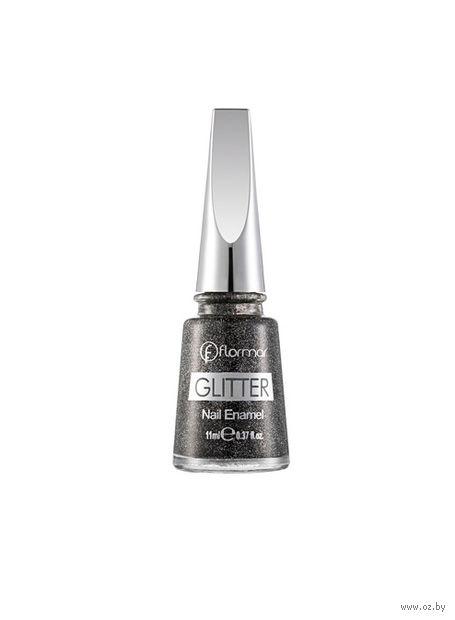 """Лак для ногтей """"Glitter Nail Enamel"""" (тон: 10, blackstar) — фото, картинка"""