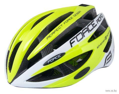 """Шлем велосипедный """"Road"""" (салатово-белый; р. S-M) — фото, картинка"""