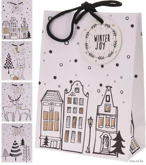 """Пакет бумажный подарочный """"Снежный город"""" — фото, картинка"""