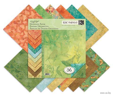 """Набор бумаги для скрапбукинга """"Палитра. Секреты природы"""" (310х310 мм; 36 листов)"""
