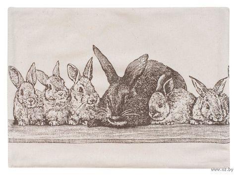 """Полотенце текстильное """"Семья кроликов"""" (45х60 см) — фото, картинка"""