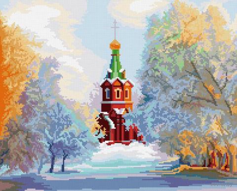 "Вышивка крестом ""Свято-Никольский Храм"" (360x295 мм) — фото, картинка"
