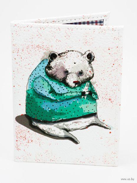 """Обложка на паспорт """"Медведь и зайчик"""" — фото, картинка"""