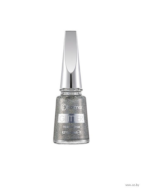 "Лак для ногтей ""Glitter Nail Enamel"" (тон: 14, holographic silver) — фото, картинка"