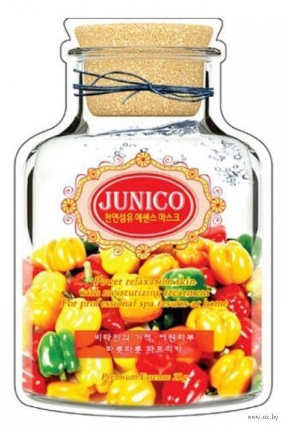 """Тканевая маска для лица """"Junico. С экстрактом паприки"""" (25 г) — фото, картинка"""