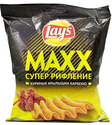 """Чипсы картофельные """"Lay's. Maxx. Куриные крылышки барбекю"""" (75 г) — фото, картинка"""