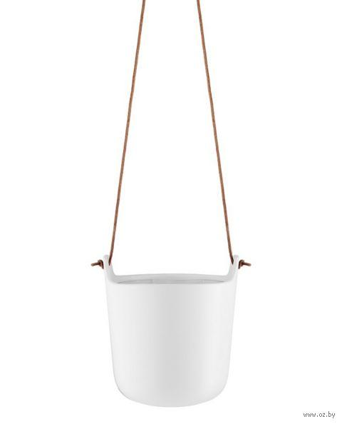 Цветочный горшок с функцией самополива (15,4 см; белый) — фото, картинка