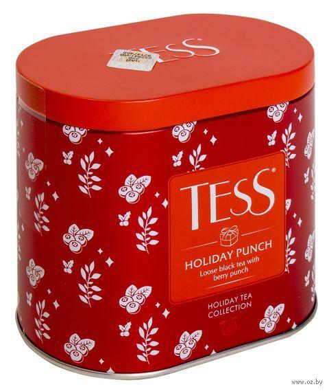 """Чай черный листовой """"Tess. Holiday Punch"""" (100 г; в банке) — фото, картинка"""