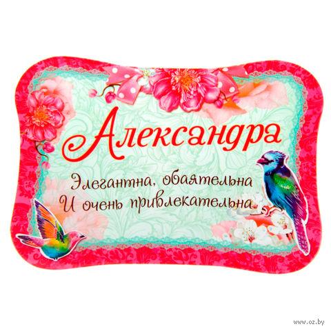 "Магнит пластмассовый ""Александра"" (100х69 мм)"