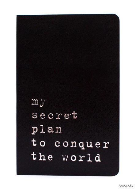 """Записная книжка Молескин """"Volant. My Secret Plan"""" нелинованная (карманная; мягкая черная обложка)"""