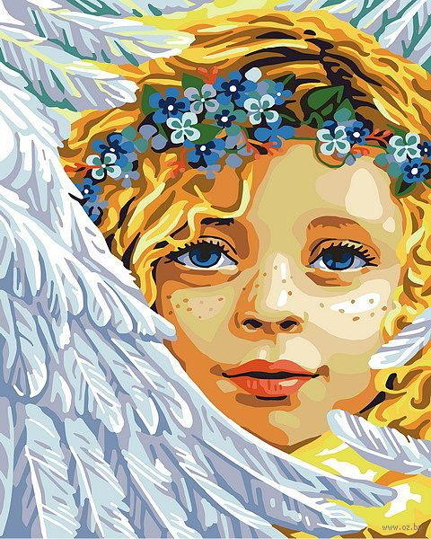 """Картина по номерам """"Ангел"""" (500х400 мм) — фото, картинка"""