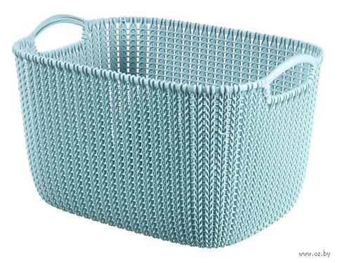 """Корзина """"Knit L"""" (синяя) — фото, картинка"""