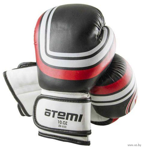 Перчатки боксёрские LTB-16101 (S/M; чёрные; 8 унций) — фото, картинка