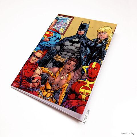 """Блокнот белый """"Вселенная DC"""" А5 (арт. 400)"""