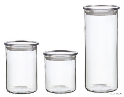 Набор банок для сыпучих продуктов (3 шт.) — фото, картинка