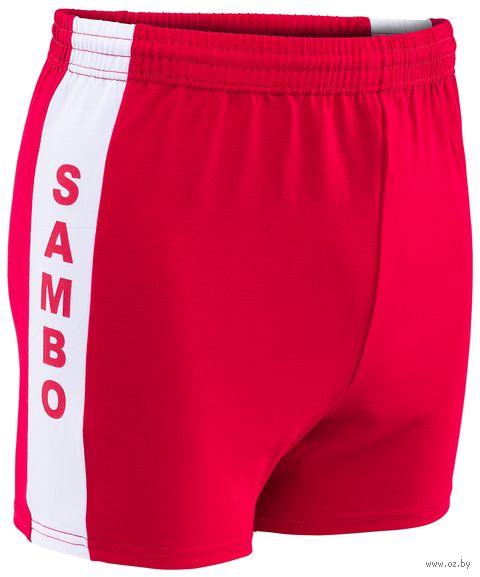 Шорты для самбо (р. 48; красные) — фото, картинка