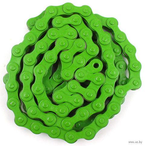 """Цепь велосипедная """"YBN S410H"""" (112 звеньев; зелёная) — фото, картинка"""