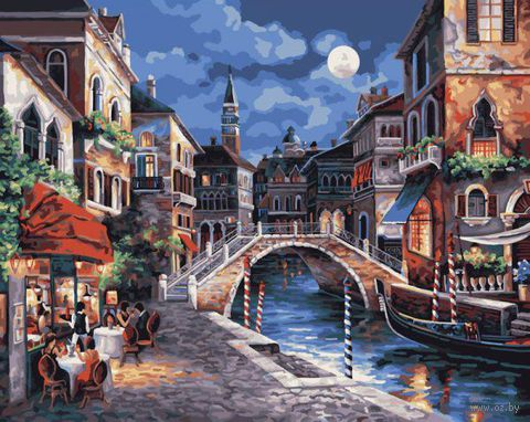 "Картина по номерам ""Венеция ночью"" (410х510 мм; арт. PLD-21739)"