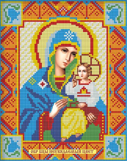 "Алмазная вышивка-мозаика ""Икона Неувядаемый цвет"" (220х280 мм; арт. АЖ-2008) — фото, картинка"